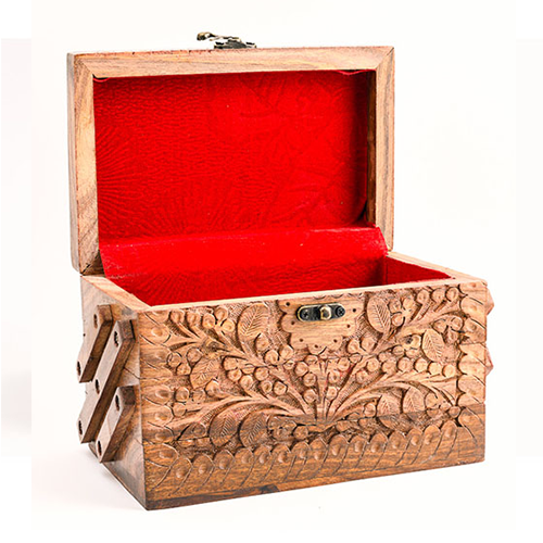 Wood Carving A Handicraft Art and Engraving Wooden Jewelry Box Carving