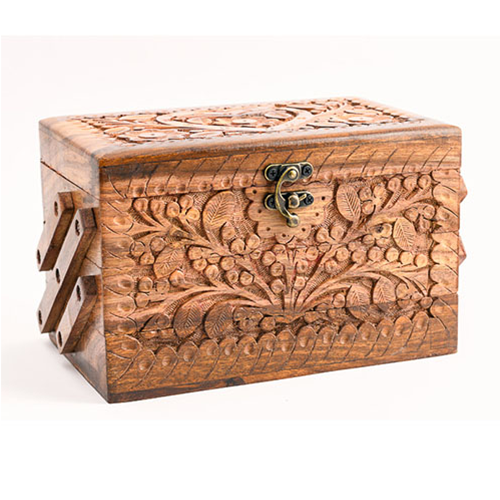 Wooden Jewelry Box Carving