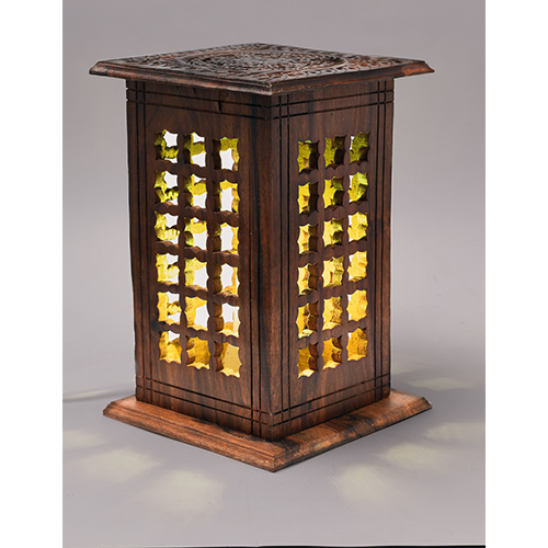 Wooden Lamp Square