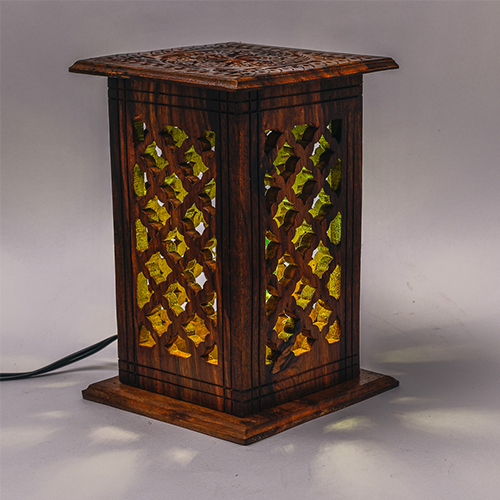 Wooden Lamp Square Diamond