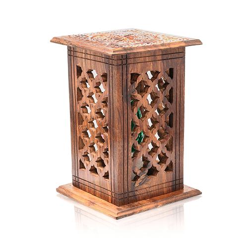 Best Handicraft Gifts Wooden Lamp Square Diamond