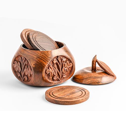 Wood Tea Mat Craft Apple