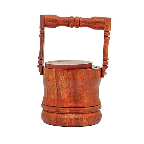 Wooden Tea Mat Craft Bucket