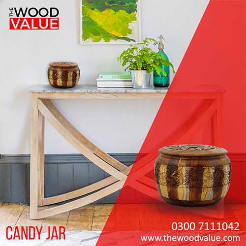Wooden Candy Jar Shades