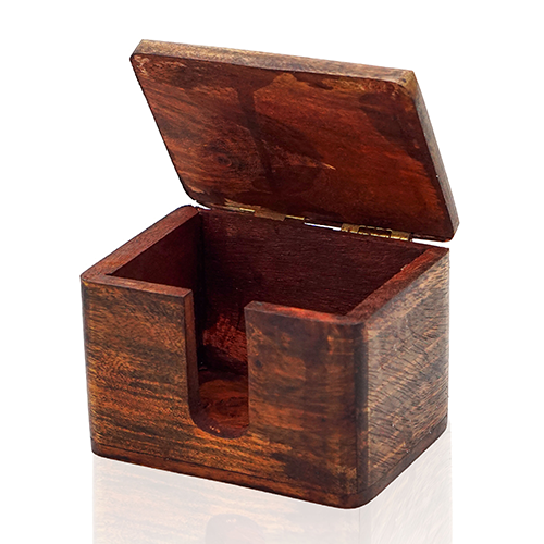 Creative Wood Decorations for Office Wooden Card Box Brass