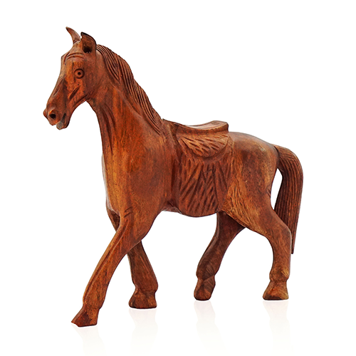 Wooden Horse with Saddle