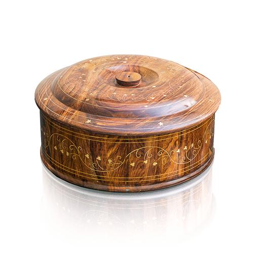 Wooden Hot Pot Brass
