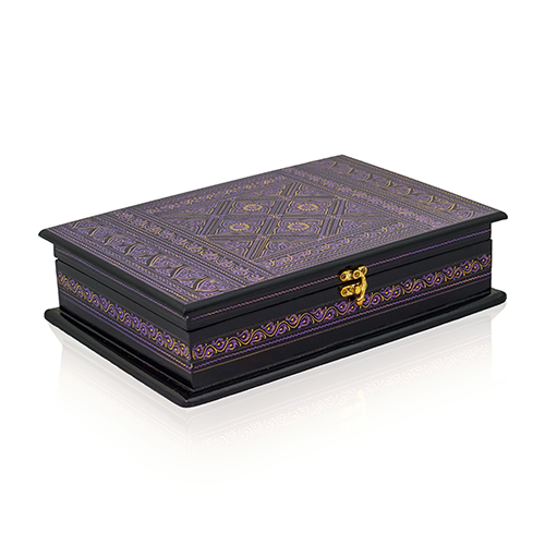 Best Sacred Book Holder & Quran Box Wooden Quran Box Purple