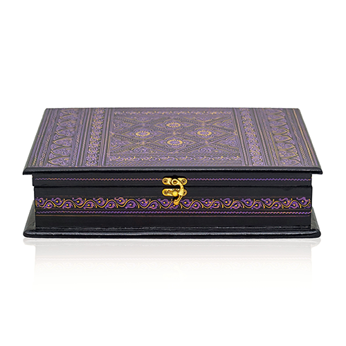 Wooden Quran Box Purple