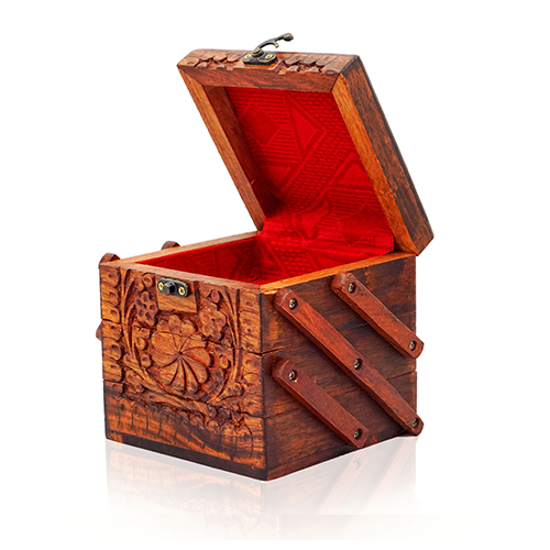 Wooden Jewelry Box Floral