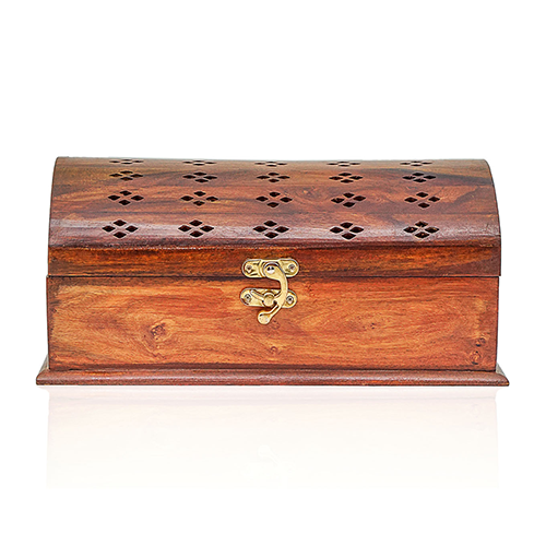 Wooden Jewelry Box Round