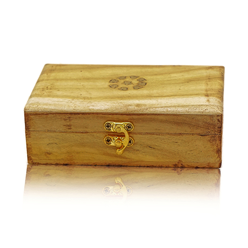 Wooden Jewelry Box Yellow