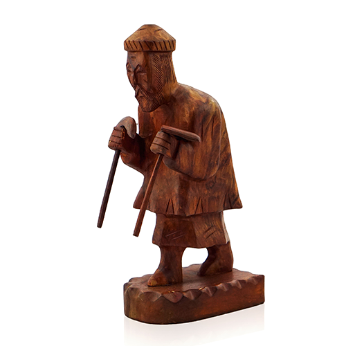 Wood Handicrafts - Learn the Importance Wooden Man Statue with Shovel