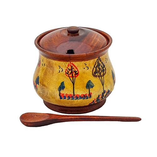 Wooden Sugar Pot Fancy