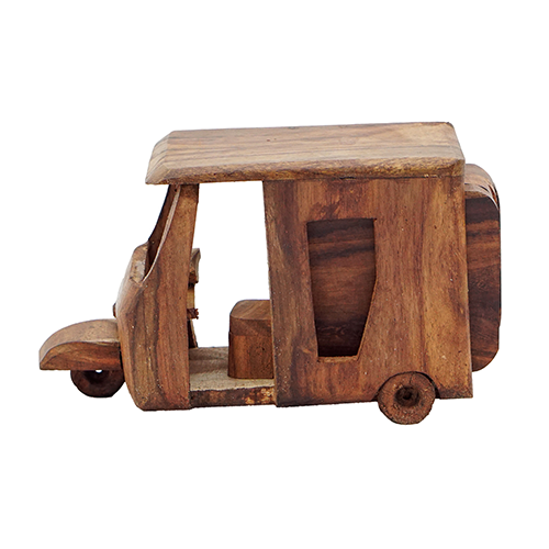 Wooden Tea Mat Rickshaw Design