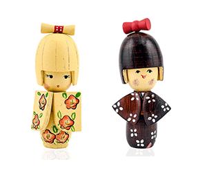 wooden kokeshi dolls toys for kids
