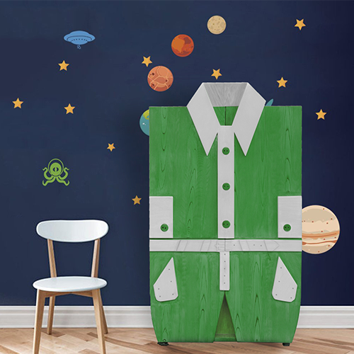 Wooden Kids Wardrobe