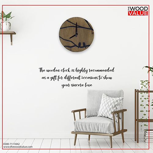 Wooden Bird Clock Customized