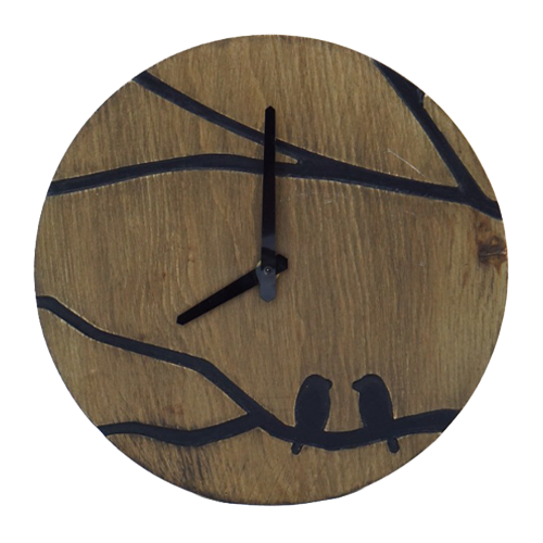 Wooden Bird Clock Customized