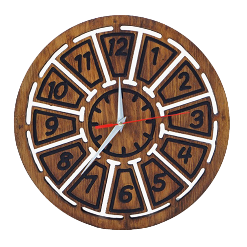 Wooden Clock Small Blocks Brown Customized