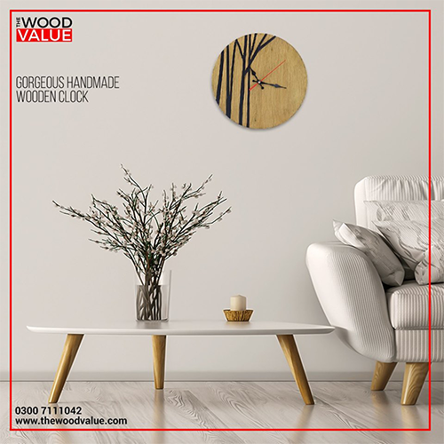 Wooden Clock Branches Customized