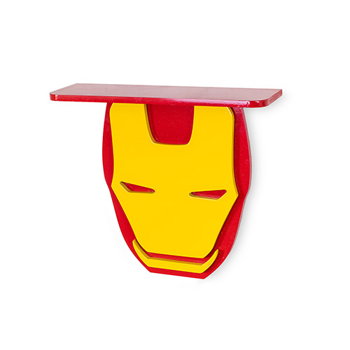 Superhero Wall Shelves for Your Kid's Room Iron man Shelf