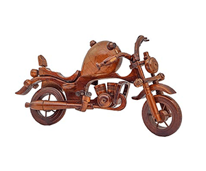 home decor wooden motorcycle
