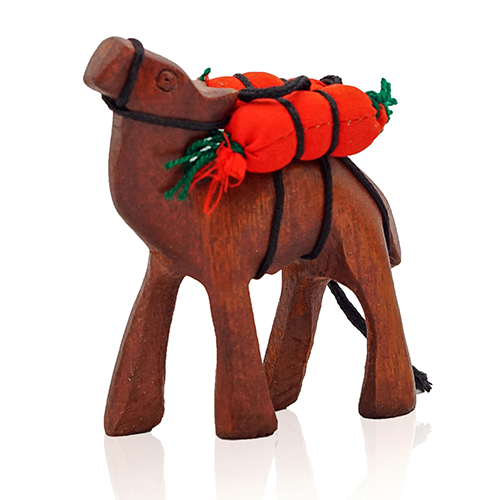 Wooden Camel with Bags
