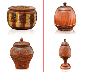 wooden candy jars