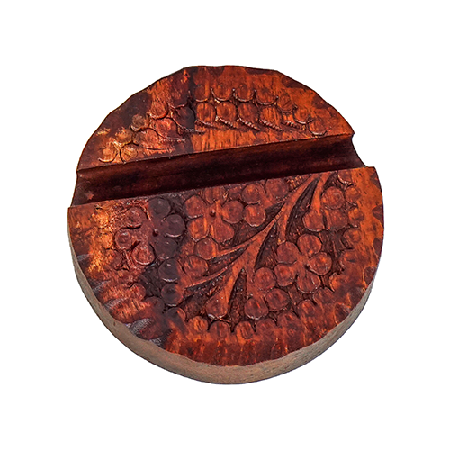 Wooden Mobile Stand Round