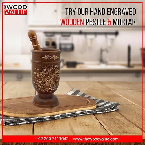 Wooden Pestle & Mortar