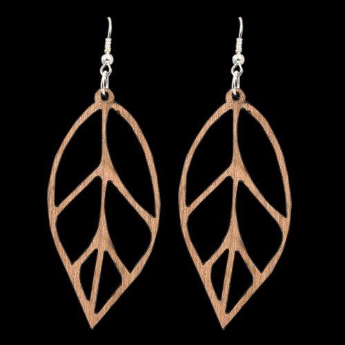 Wooden Earring Leaf 101