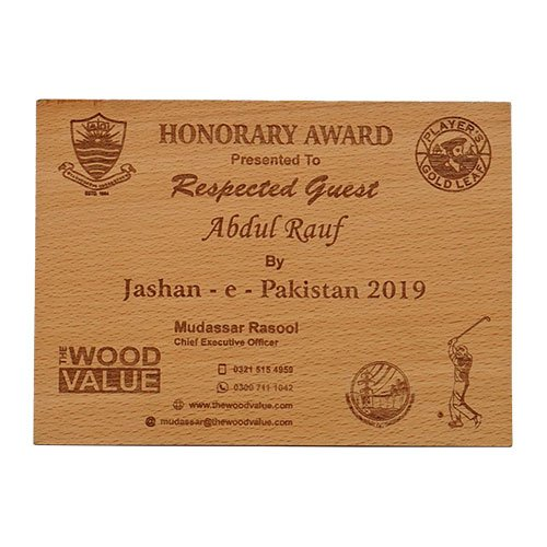Creative Wood Decorations for Office Wooden Invitation Card