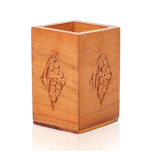 Wooden Pen Jar Engraved
