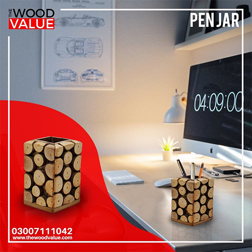 Pen Jar Wood Cuts