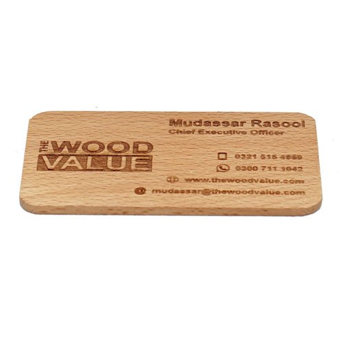 Wooden Visiting Card