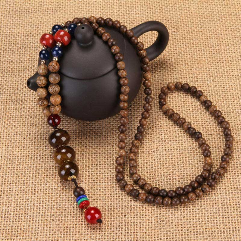 Wooden Beaded Necklaces for Women's Fashion