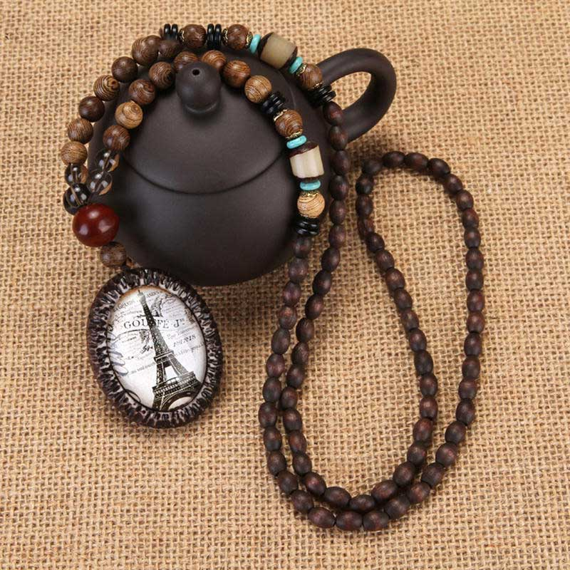 Necklaces Pendants for Women Wooden Beaded Necklaces for Women's Fashion