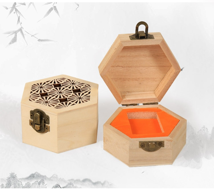 Hexagonal Wooden Jewelry Box
