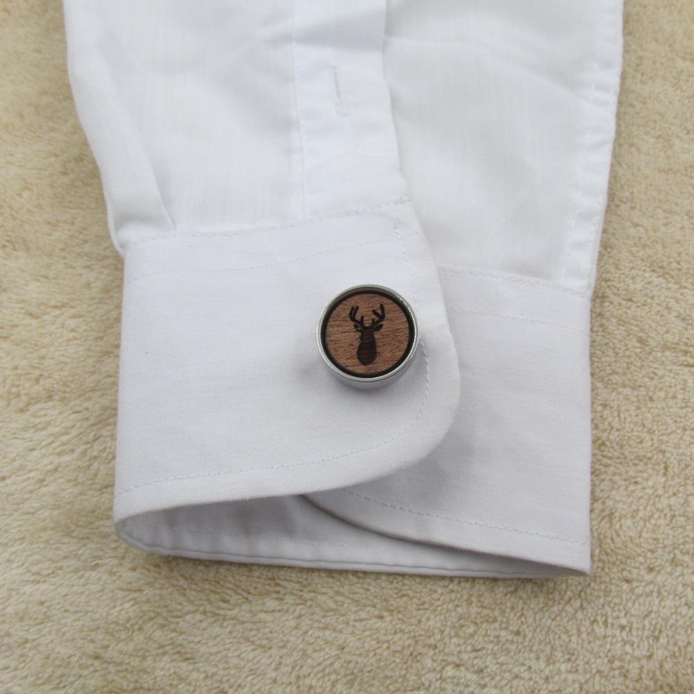 Wood Cufflinks Wedding Accessory