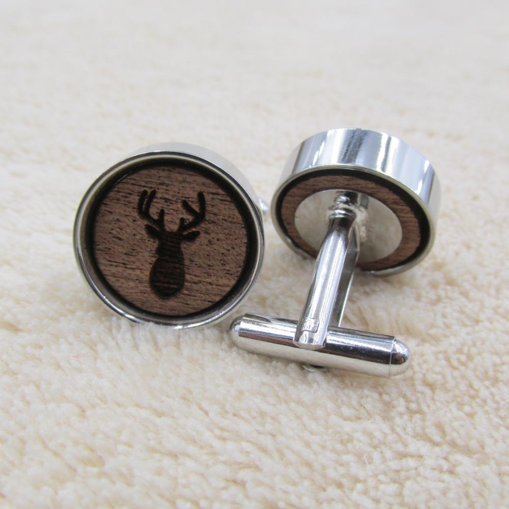 Tie Clips and Cufflinks as Gifts Wood Cufflinks Wedding Accessory