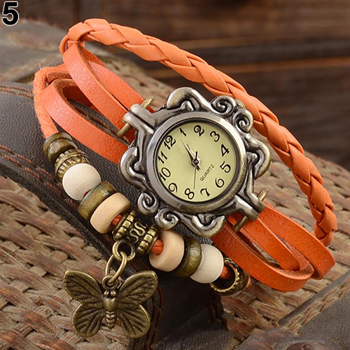 Leather Bracelet Wrist Watch Ladies