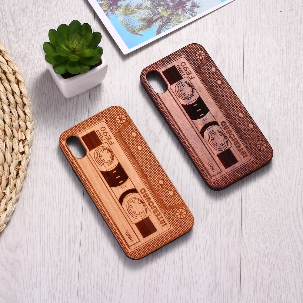 Cassette Tape Wood Phone