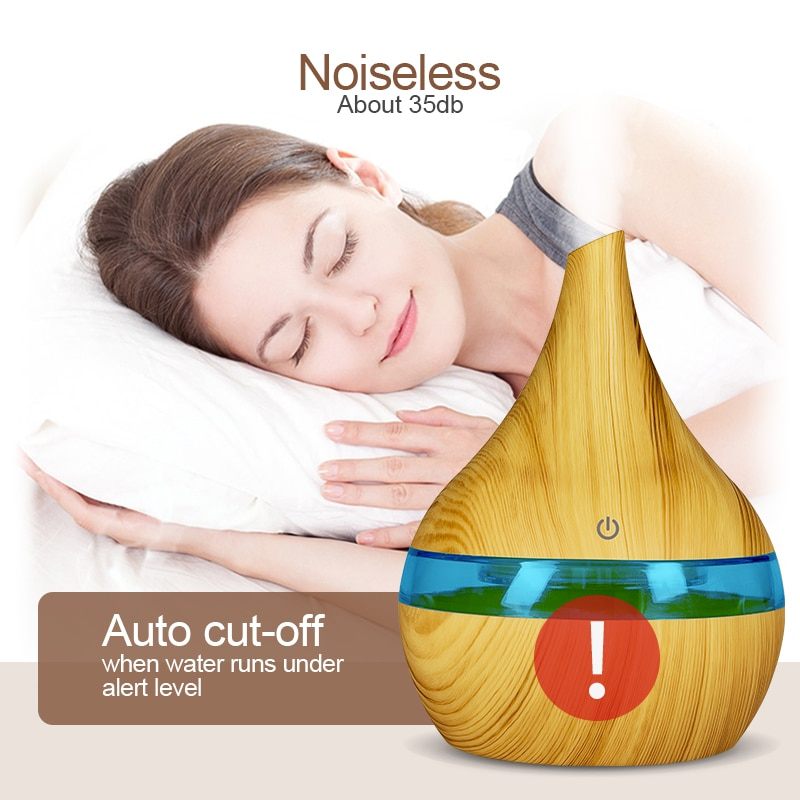 The Best Air Humidifier Wooden Pattern Air Humidifier & Diffuser