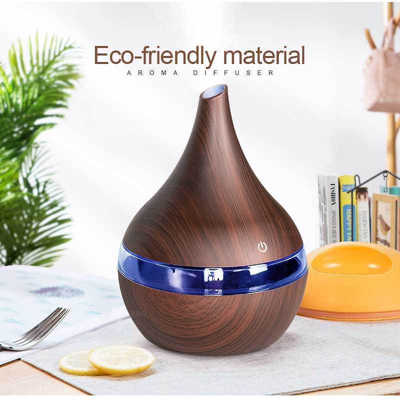 Improve Your Home Decor Wooden Pattern Air Humidifier & Diffuser