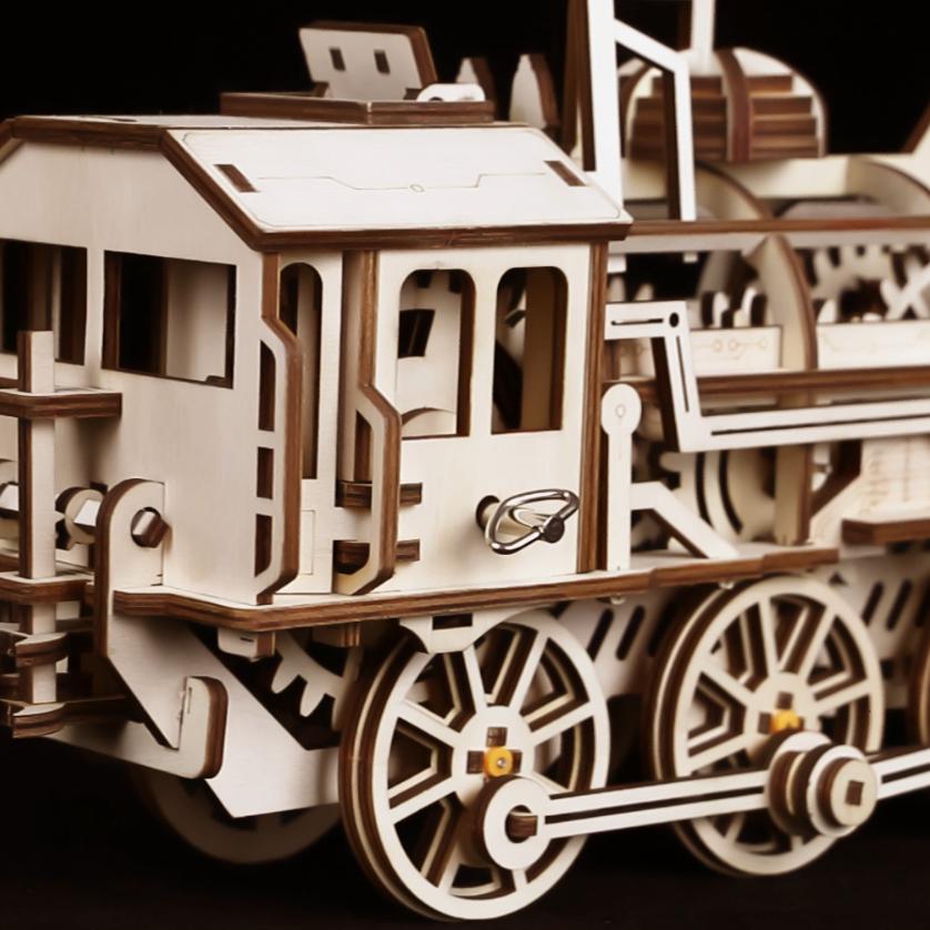 Wooden Train Model Building Set