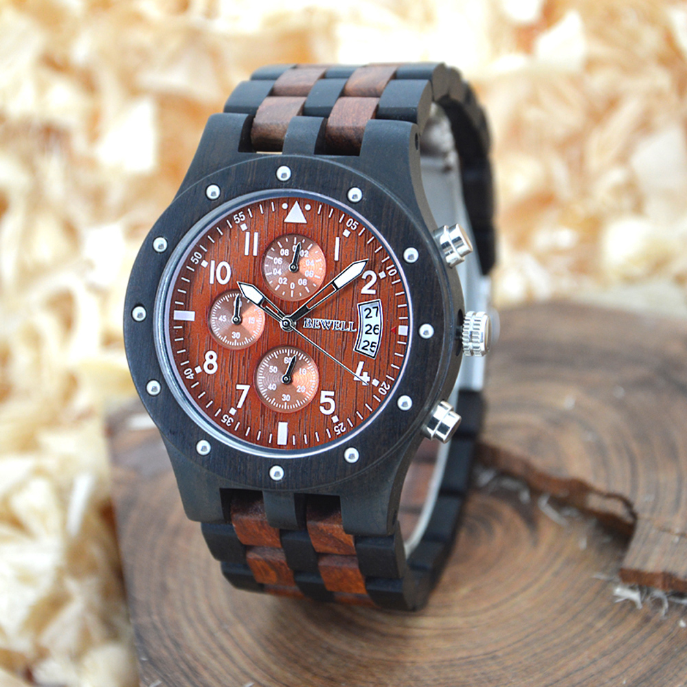 Men's Stylish Wooden Wristwatch