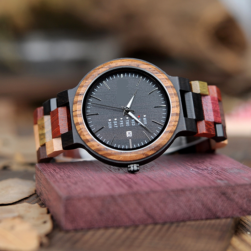 Colorful Wood Strap Watches