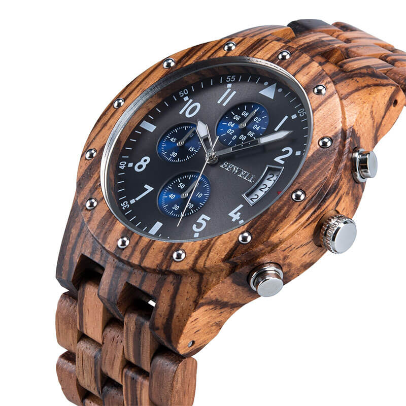 Wooden Stylish Wristwatch for Men's Fashion