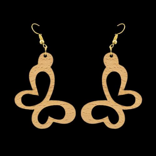 Wooden Earrings 132 for Women's Fashion
